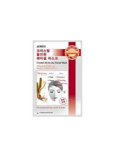 Junico Crystal - Kırmızı Ginseng Özlü Yüz Maskesi 10 Adet Renksiz